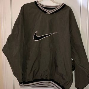 Nike olive green size XL pullover jacket